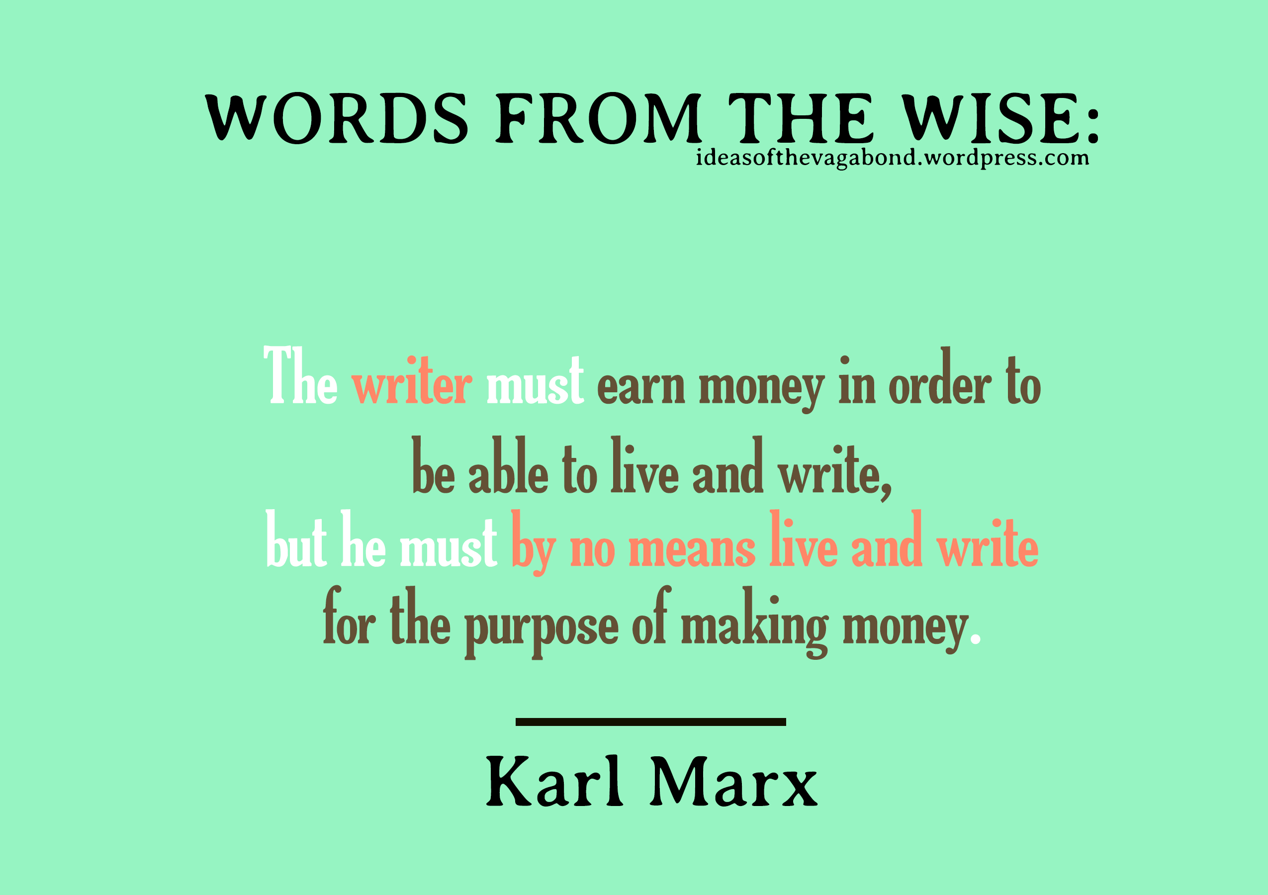 karl marx and his ideas essay